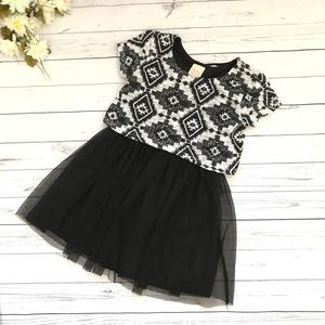 Black/Grey tutu dress